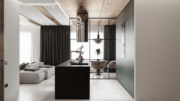 modern-apartment-with-minimalist-design-600x338 Modern Minimalist Apartment Designs Under 75 Square Meters (808 Square Feet) Upholstery in Victoria