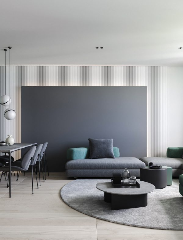 unique-dining-room-pendant-lights-600x785 Modern Minimalist Apartment Designs Under 75 Square Meters (808 Square Feet)