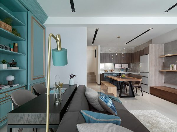 Two Beautiful Blue Interiors – Free Cad Download Center