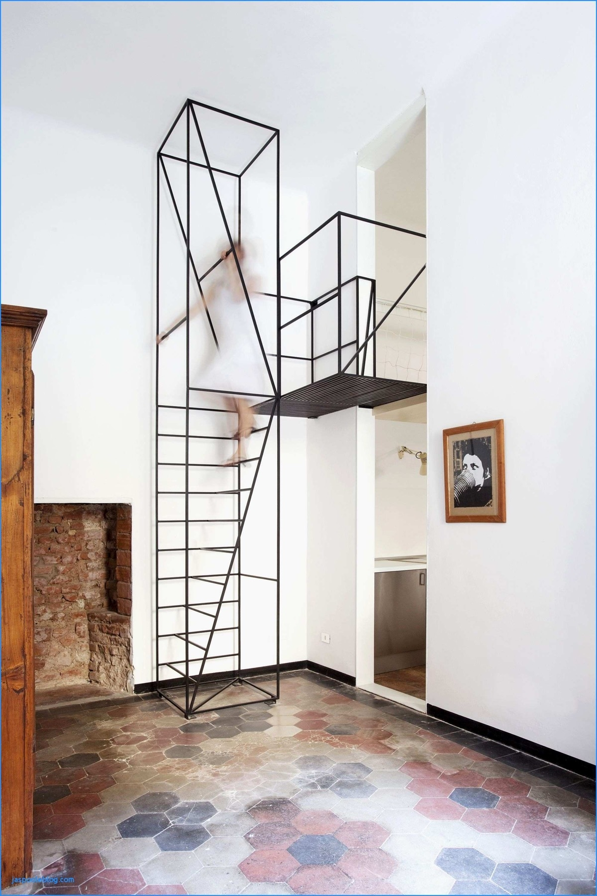 51 Stunning Staircase Design Ideas   Steel Ladder Design For Home   Wrought Iron   House   Residential   Interior   Contemporary