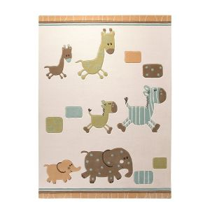 Teppich ESPRIT Lucky Zoo - Beige/Bunt - 170 x 240cm, Esprit Home