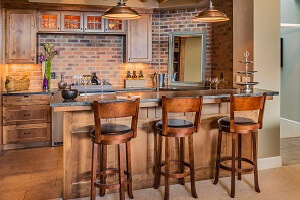 2021 cost to build a home bar wet bar