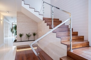 2020 Glass Deck Stair Railing Costs Per Foot Homeadvisor | Staircase Contractor Near Me | Basement Stairs | Stair Case | Stair Parts | Yelp | Stamped Concrete
