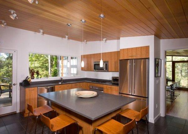 rustic mid century modern kitchen