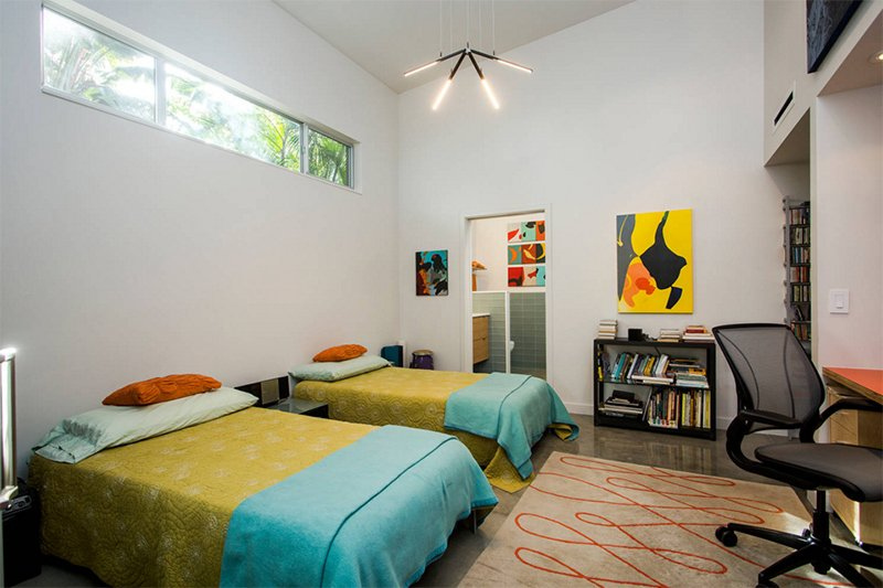 modern mid century beds