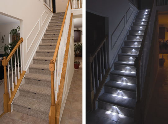 Led under step lighting. led outdoor step lights digihome. stair ...