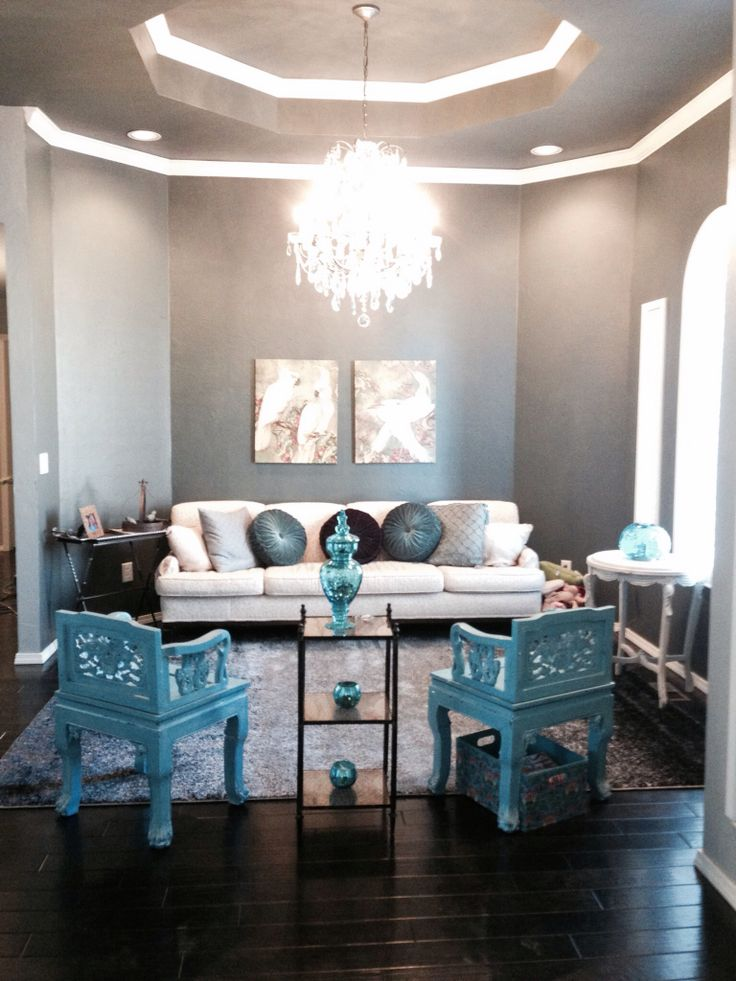 How To Decorate Your Living Room With Turquoise Accents Part 41