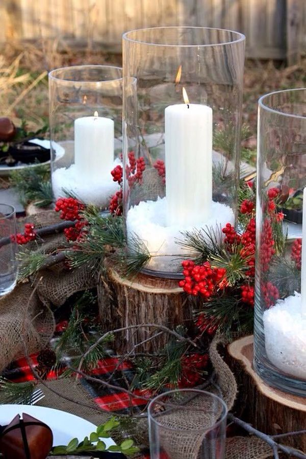 10 Winter Home Decorating Ideas Use glass containers for the decorations