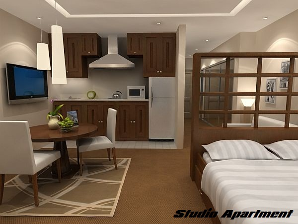 difference between studio apartment and one bedroom