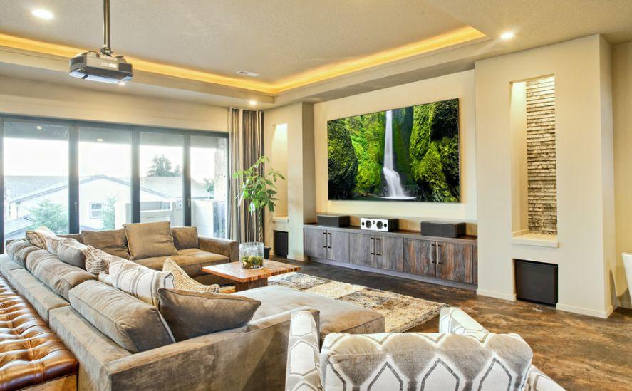 Living Room Big Tv Ideas Novocom Top