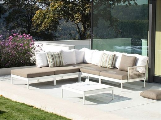 Modular lodge lounge furniture for the garden View in gallery  Lodge is a furniture collection involving modular pieces  for the garden