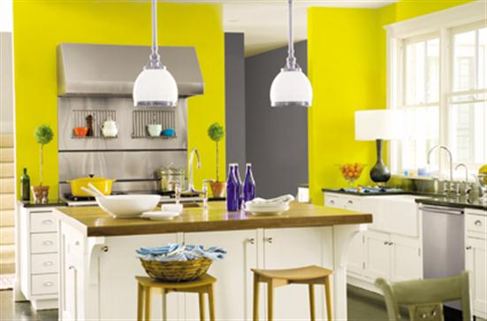 Dark Paint Kitchen Yellow