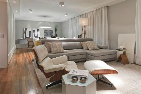 Modern apartment interior design in Brazil