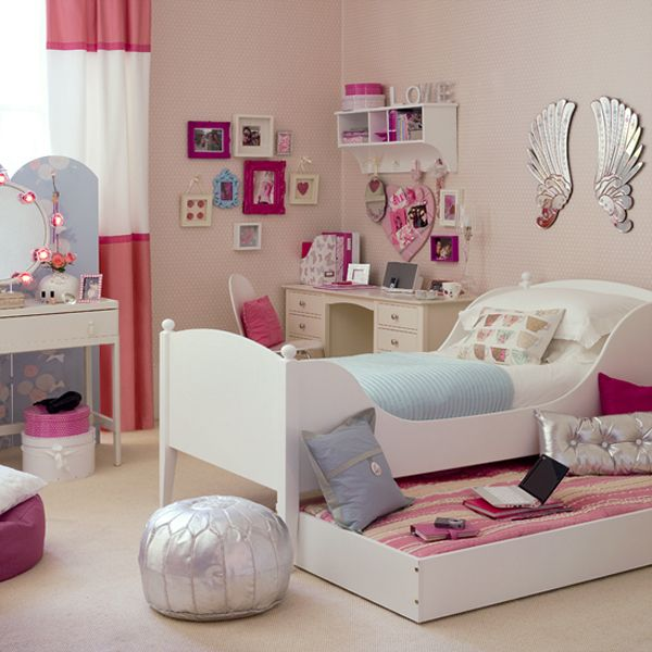 room for teens girl pink space saving picture Girls Bedroom Ideas