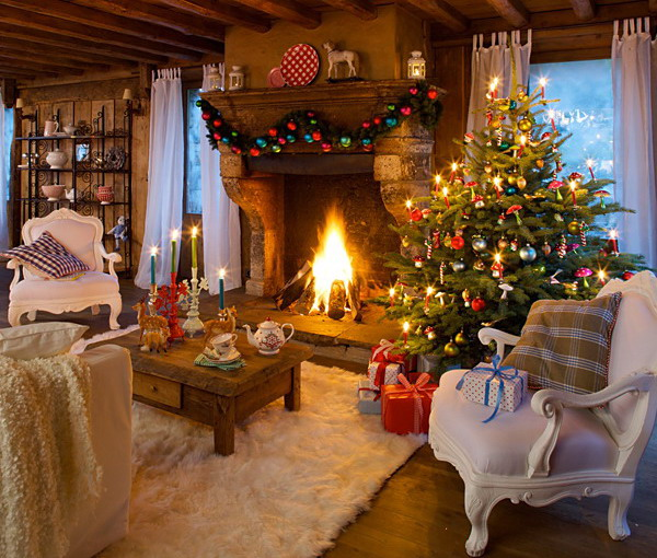 Stylish New Year Decorations In Chalet Style View in gallery