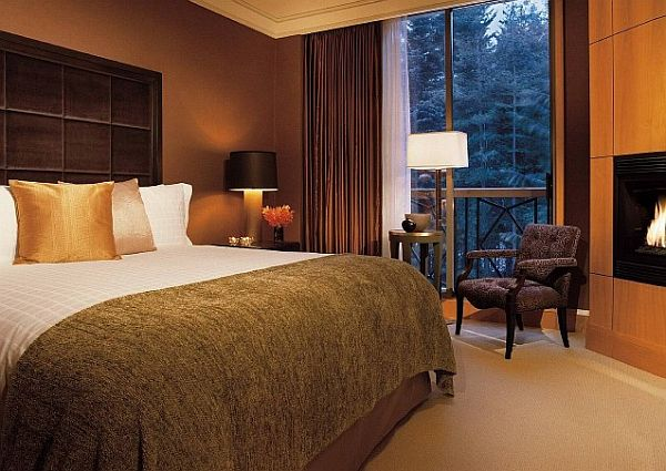 what colors work well with brown in the bedroom