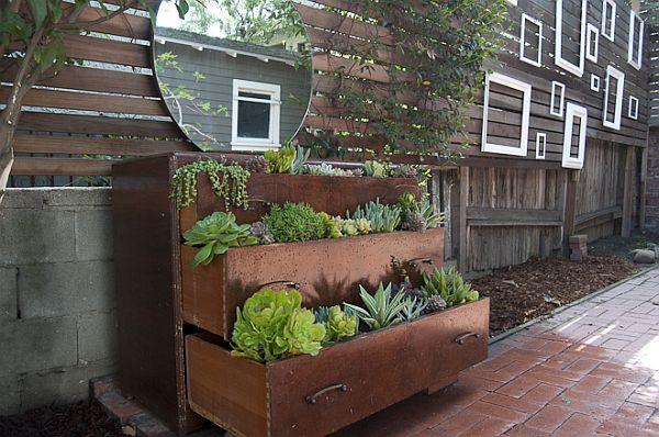 Dresser Planters - Dresser Repurposing