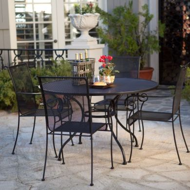 Wrought Iron Dining Set   Home design ideas The Sleek Paxton Outdoor Dining Set