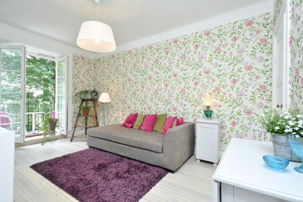Charming 37 Square Meter Flat With Fl Wallpaper