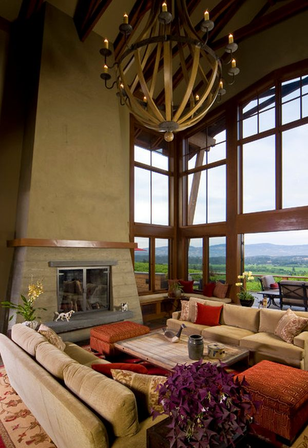 10 High Ceiling Living Room Design Ideas View in gallery Inviting living room with high