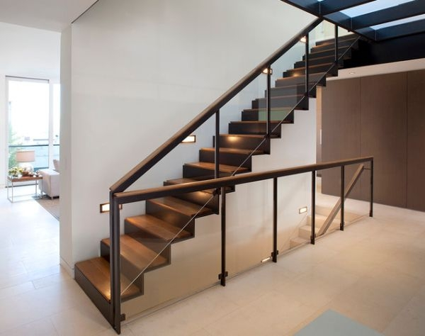 10 Steel Staircase Designs Sleek Durable And Strong   Metal And Wood Stairs   Straight   Diy   Residential   Rustic   Stair Railing