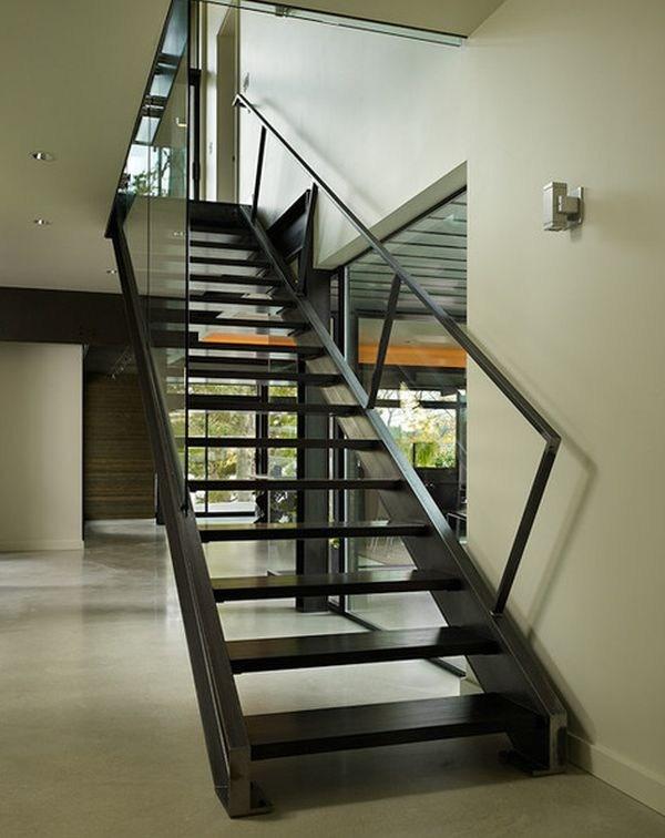 10 Steel Staircase Designs Sleek Durable And Strong   Steel And Wood Staircase Design   Inside   Outdoor   Detail   Wooden   Metal