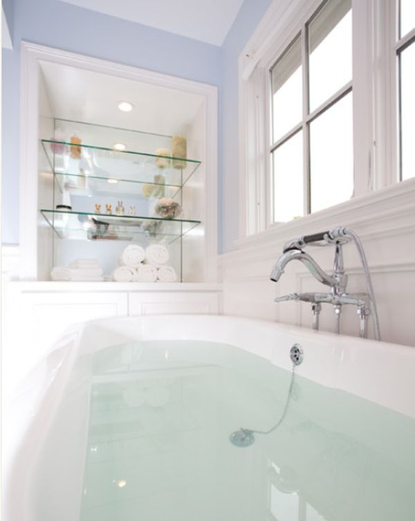 Sleek Functional And Versatile Glass Shelving Designs For