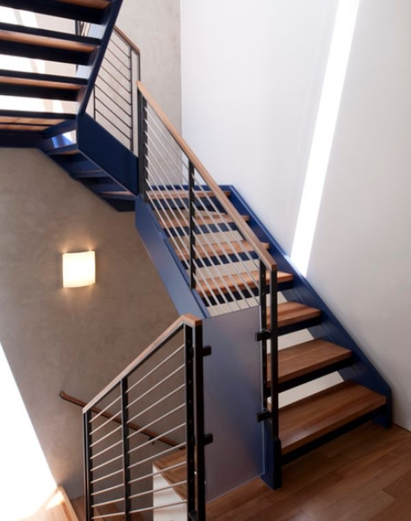 Modern Handrail Designs That Make The Staircase Stand Out   Stair Railing Wood And Steel   Stair Inside   Baluster   Tall Stair   Indoor Stair   Solid Wood