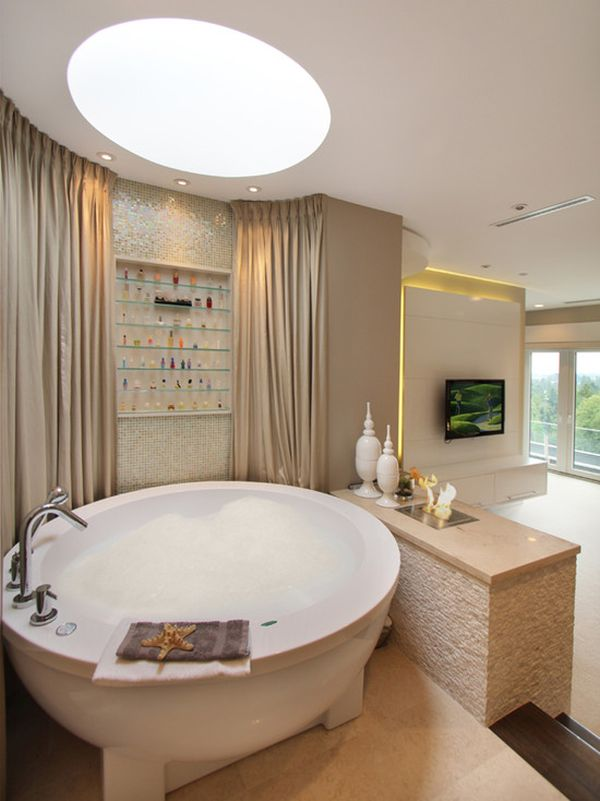 10 Round Bathtub Design Ideas And Decors That Go With Them