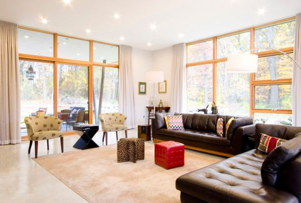 Give Your Living Room An Elegant Look With A Brown Leather ...