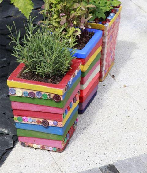 vasi fai da te per il giardino
