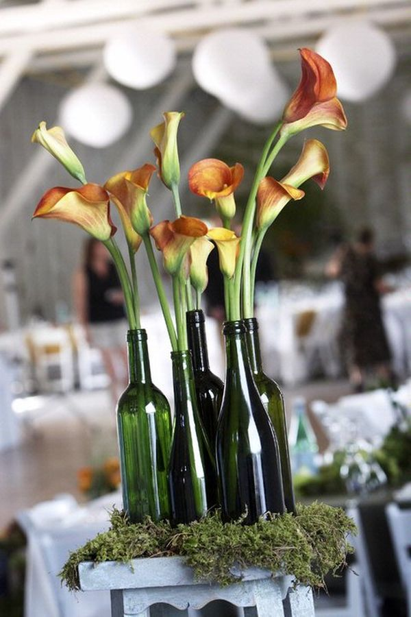 Fl Wine Bottle Centerpiece