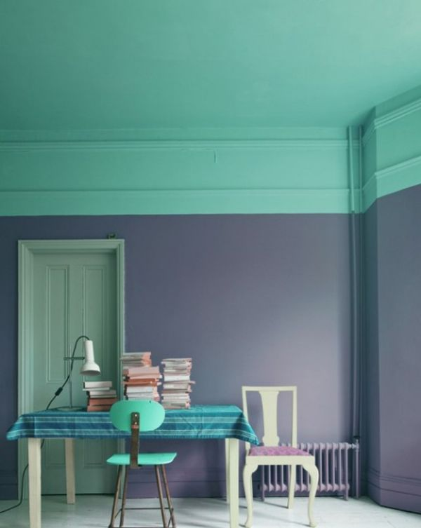 Two Toned Walls That Work Colorblocking Inspiration