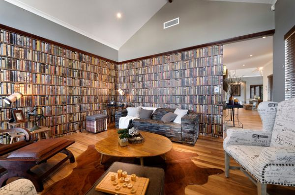 Bookshelf Printed Wallpaper That Lets You Have An