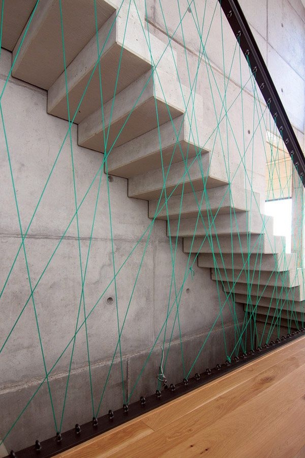 The 25 Most Creative And Modern Staircase Designs   Wood And Concrete Stairs   House   Internal   Glass   Small Space   Pinterest