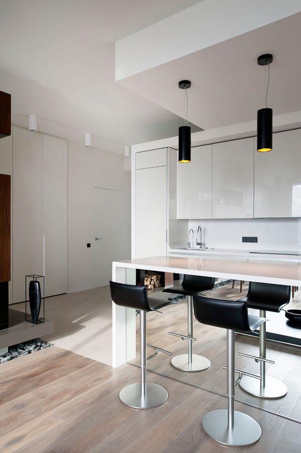 An Ultra Modern Moscow Apartment With A Glass Wall Between