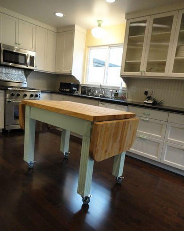 Movable Kitchen Islands With Drop Leaf Novocom Top