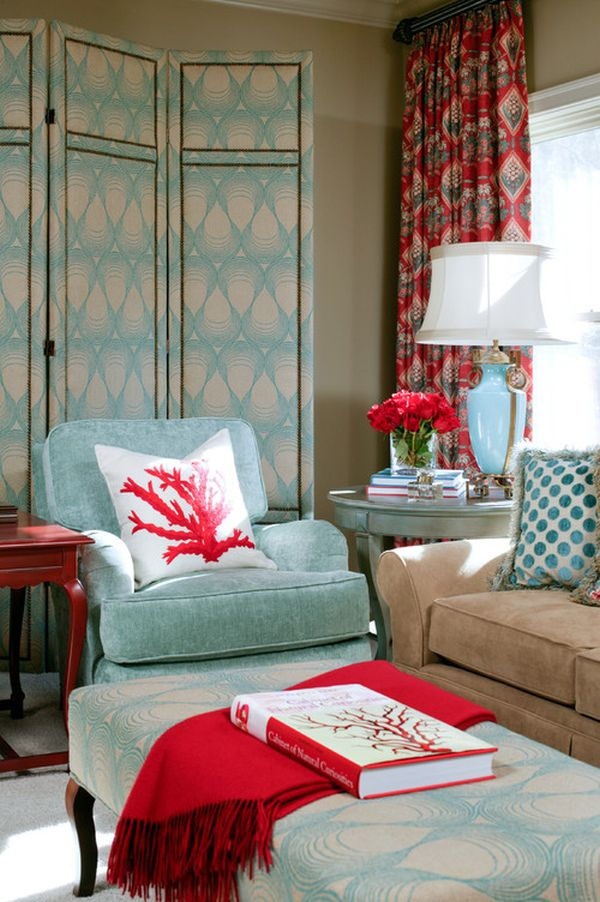 Powder Blue And Poppy Red Rooms Ideas And Inspiration