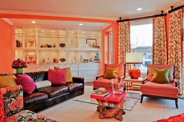 Dipped In Peach Monochromatic Rooms