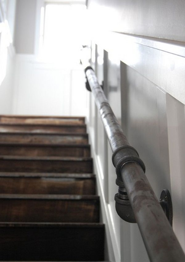 17 Ingenious Staircase Railing Ideas To Spruce Up Your House Design   Rustic Handrails For Stairs   Basement   Wooden   Banister   Metal   Deck