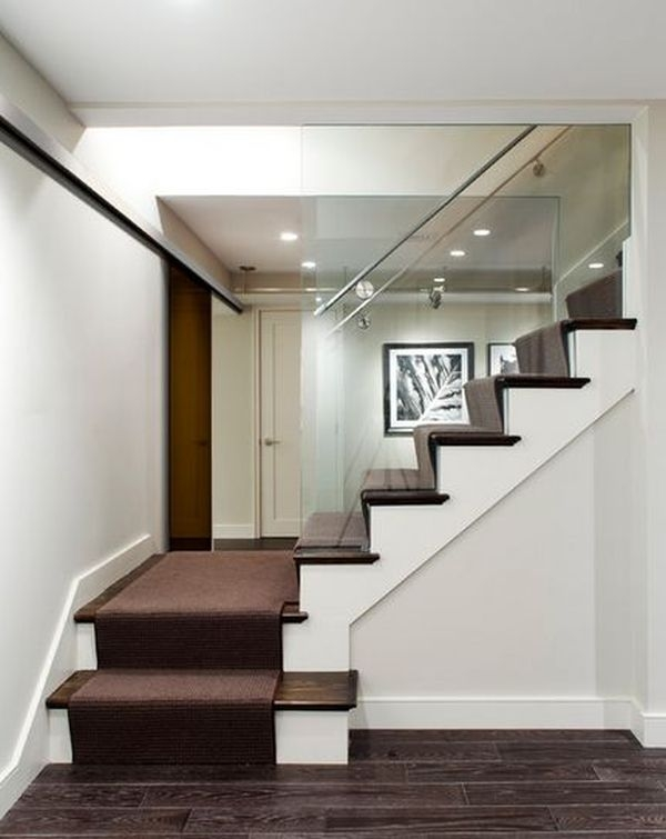 20 Glass Staircase Wall Designs With A Graceful Impact On The | Staircase Side Wall Design | Farmhouse | Ladder | Bookshelf | Small Space | Beautiful