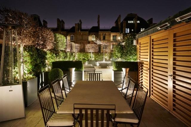 25 suggerimenti per trasformare il terrazzo in un oasi - Illuminazione per terrazzi ...