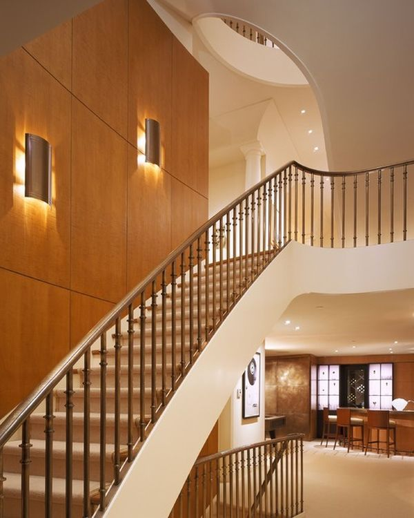 Lighting fixtures for staircase. chandelier spiral stair lighting ...