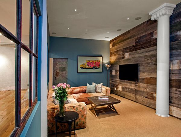 barn wood living room wall. style cottage style living room with,