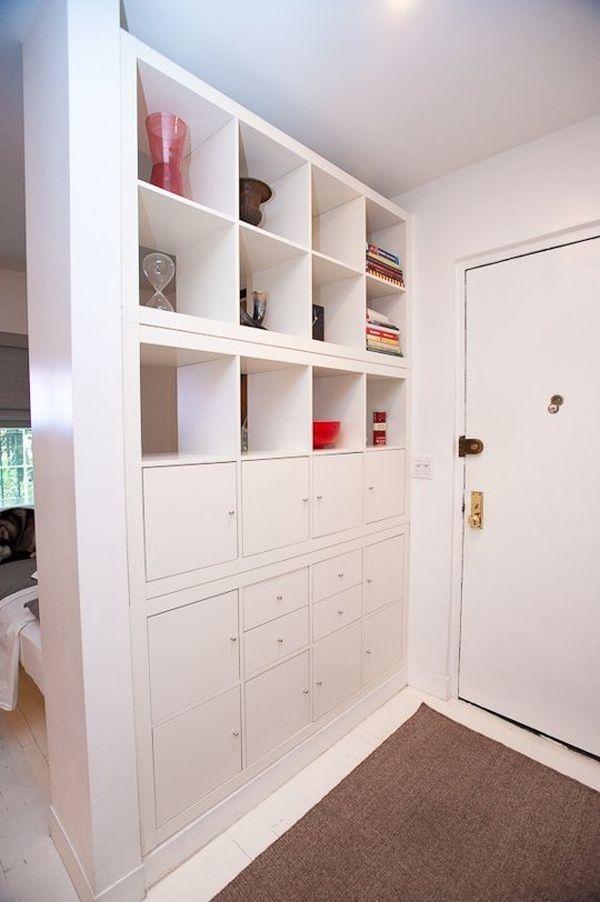 open floor plan with ikea room dividers