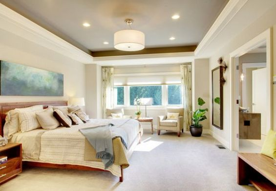 Glamorous Lighting Ideas That Turn Tray Ceilings Into Architectural     View in gallery