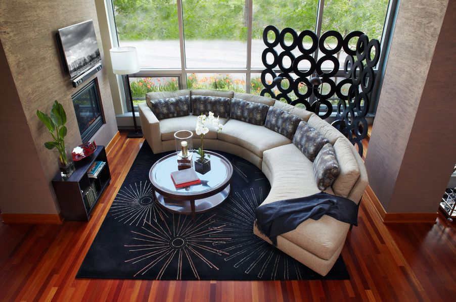 curved sofa or sectional