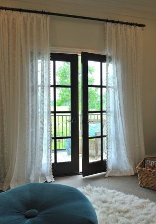 French Door   Window Curtains for your Patio  Ideas   Inspiration 1  Whimsy   Light