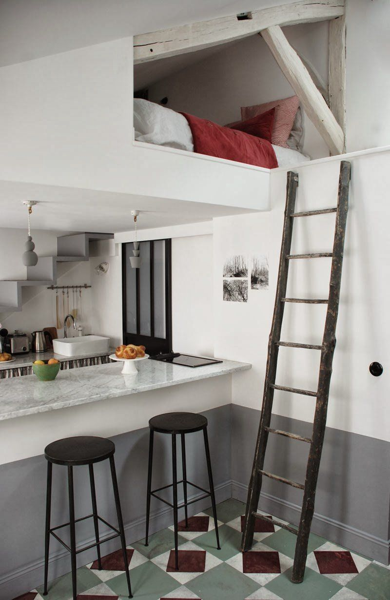 Tiny Attic Becomes A Full Scale Apartment Designed For