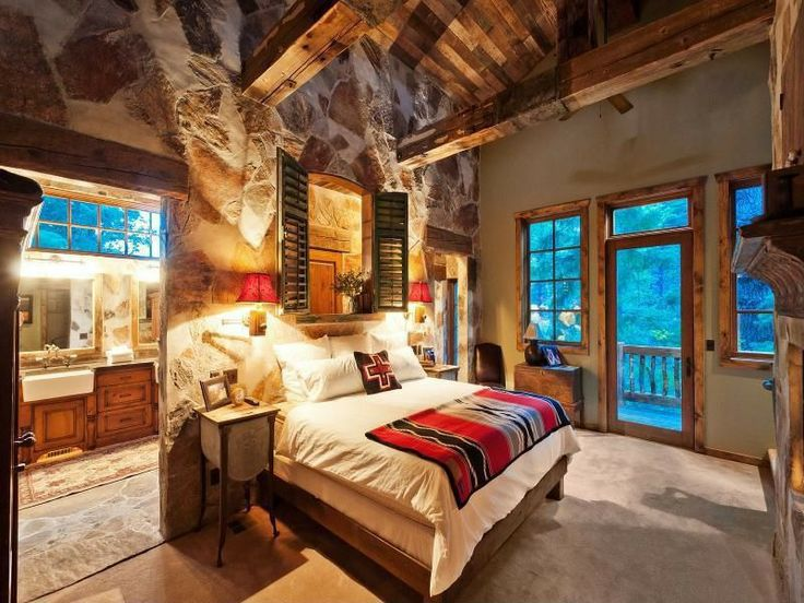 how to design a rustic bedroom that